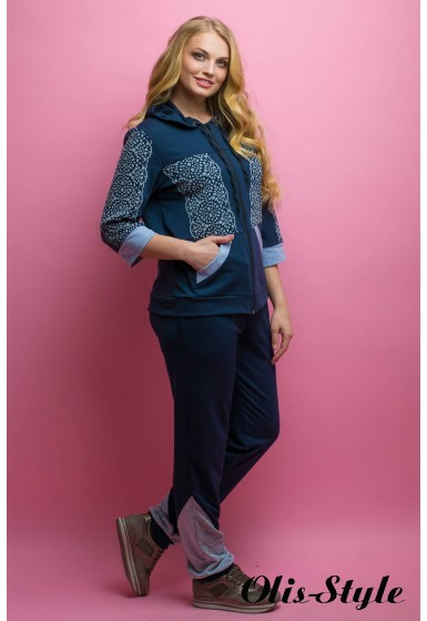 Спортивный костюм Кэри (синий)   оптовая цена