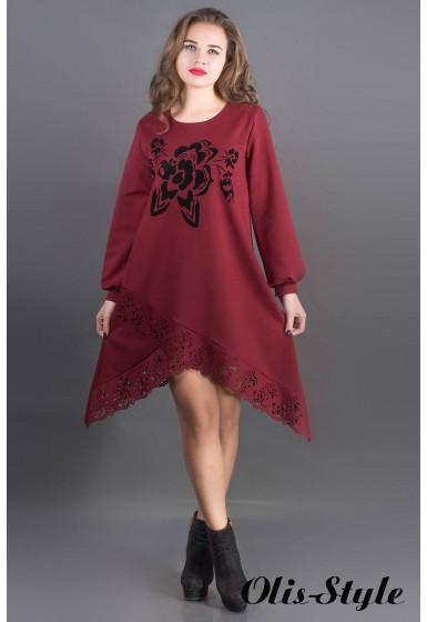 Платье Бланк (бордовый) Оптовая цена