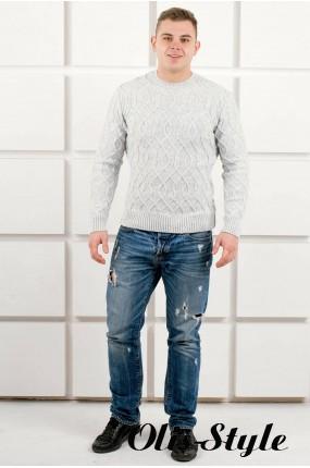 Мужской свитер Лаврентий (белый) оптовая цена