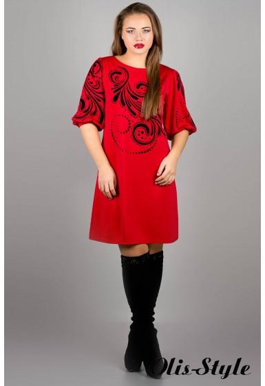 Платье Каролина (красный) оптовая цена
