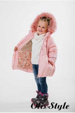 Зимняя детская куртка Бемби (пудра) ОПТОВАЯ ЦЕНА