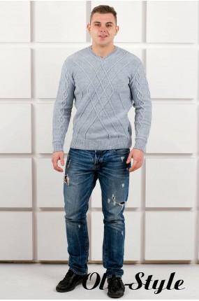 Мужской свитер Василий (серый) оптовая цена