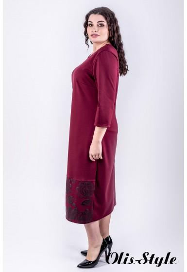 Платье Римма (бордовый)