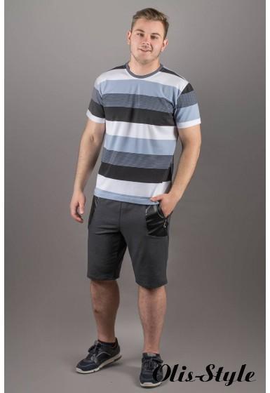 Мужская футболка Лаки (серый полоска) оптовая цена