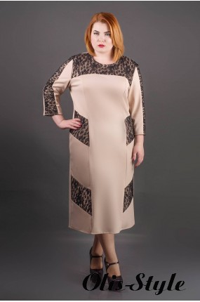 Платье Грация (бежевый) Оптовая цена