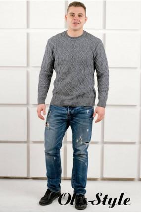 Мужской свитер Лаврентий (серый) оптовая цена