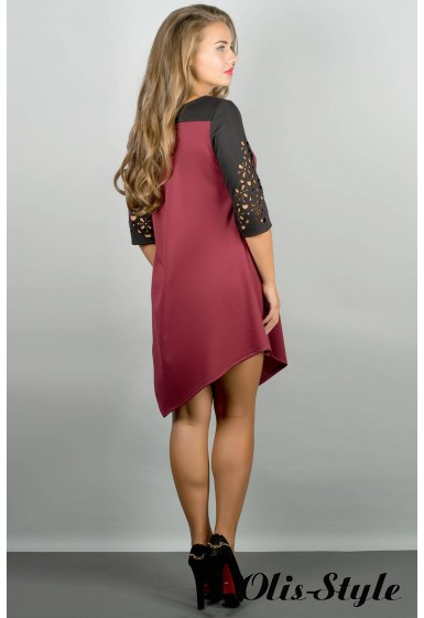 Платье Эсмина (бордовый) Оптовая цена