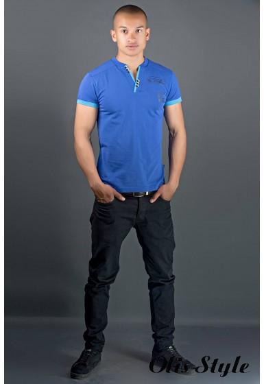Мужская футболка Систем (синий) оптовая цена