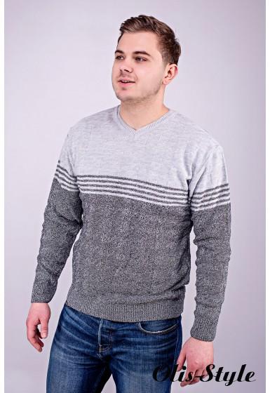 Мужской свитер Афанасий (серый) оптовая цена