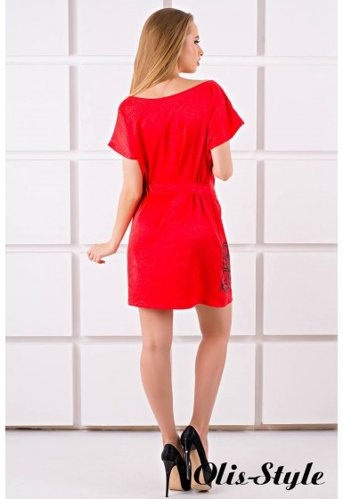 Платье Майли (красный) Оптовая цена