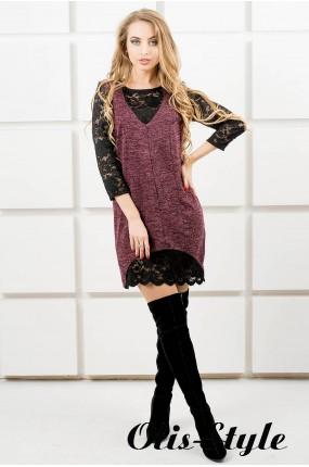 Платье Монита (бордовый) Оптовая цена